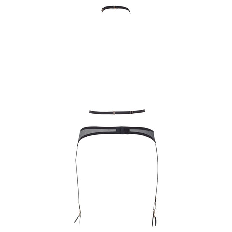 Enya Suspender Harness with Detachable Harness Black