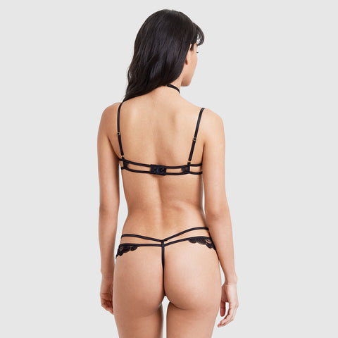Ember Harness Thong Black