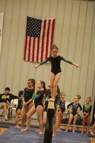 Gymnast at competition