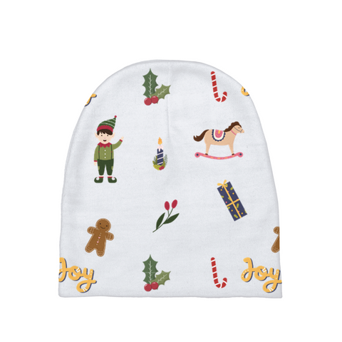 "Christmas ""Joy & Elf"" Baby Beanie"