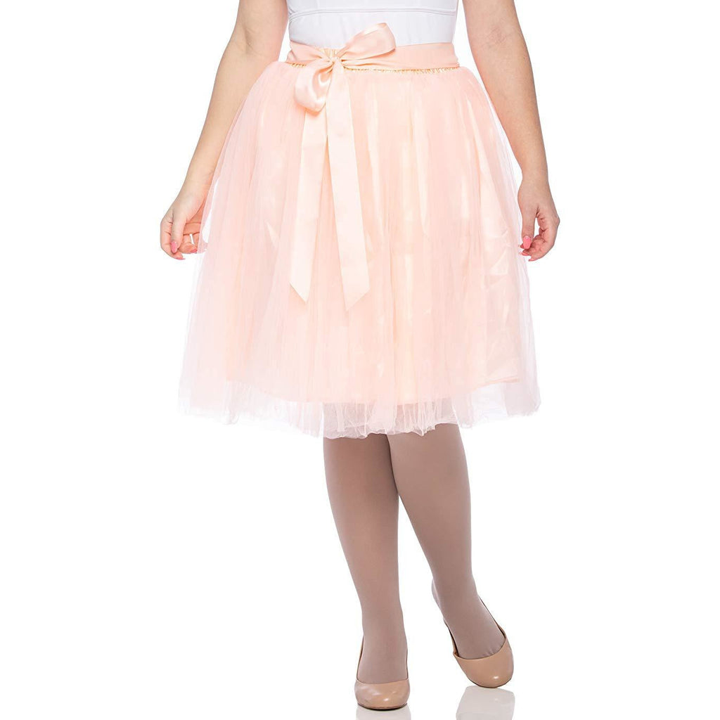 652cc99d603c Dancina Women's Knee Length Tutu A Line Layered Tulle Skirt for Dates Prom  Party