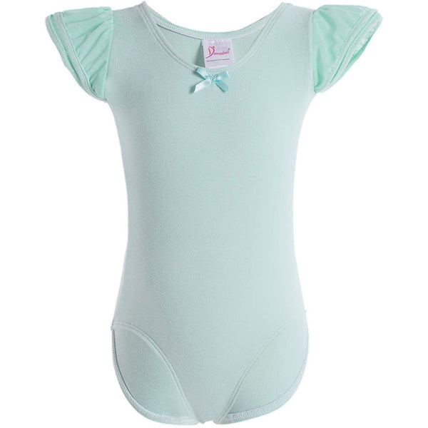 Dancina Girls Ballet Leotard with Flutter Sleeve and Full Front Lining in Mint