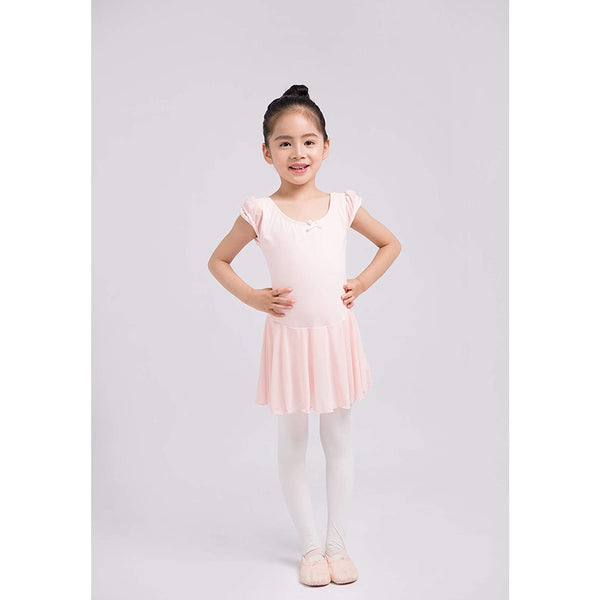 Dancina Flutter Sleeve Skirted Leotard for Girls in Ballet Pink