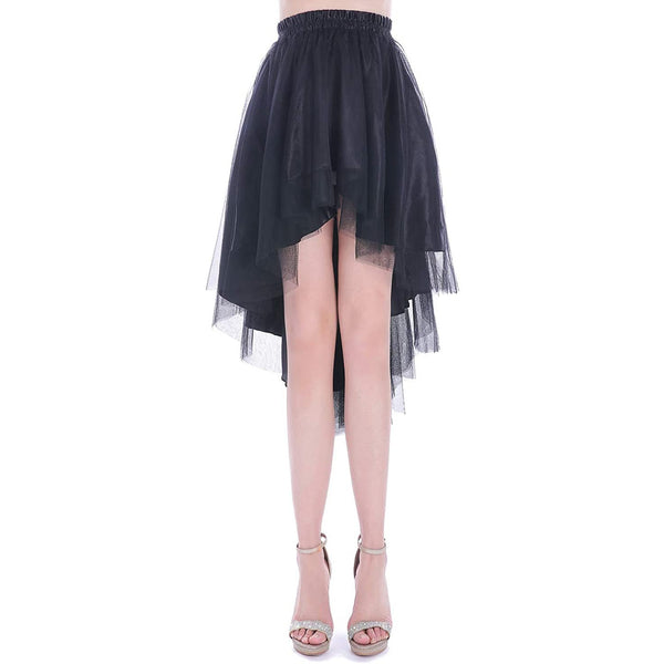 high low tulle skirt black