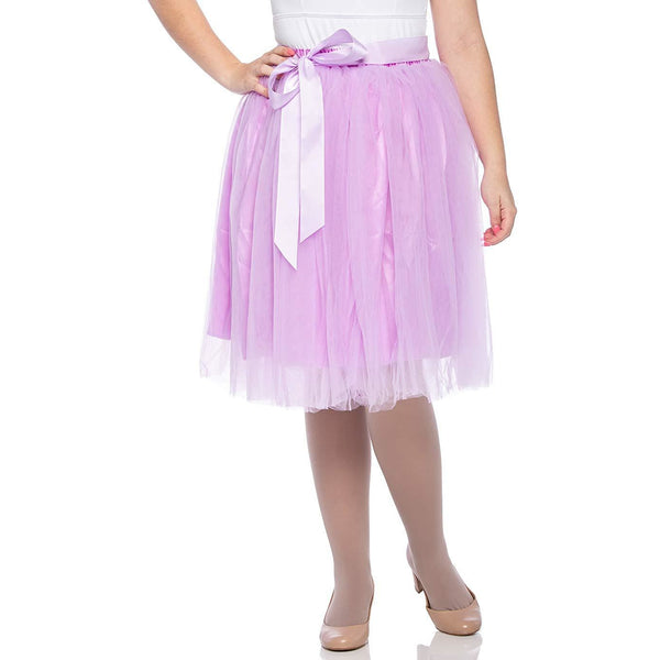 Adults & Girls A-line Knee Length Tutu Tulle Skirt - Regular and Plus Size in Lavender