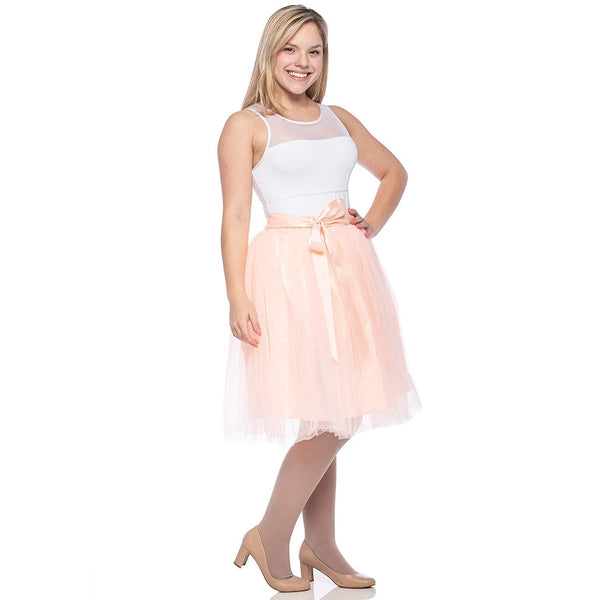 Adults & Girls A-line Knee Length Tutu Tulle Skirt - Regular and Plus Size