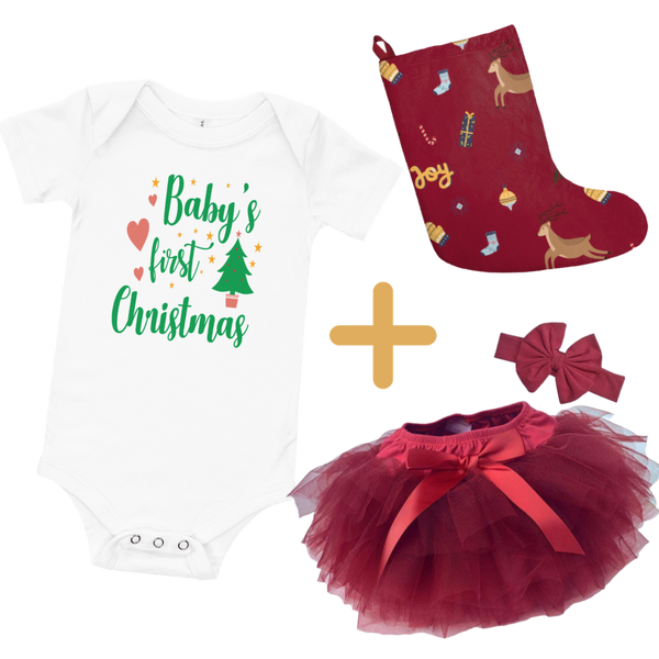 Dancina Christmas Outfit Baby's First Xmas