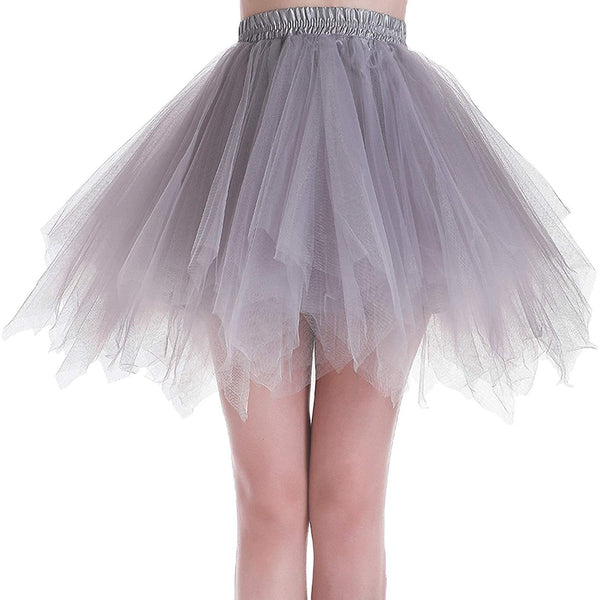 Tutu Skirt Plus Size Grey