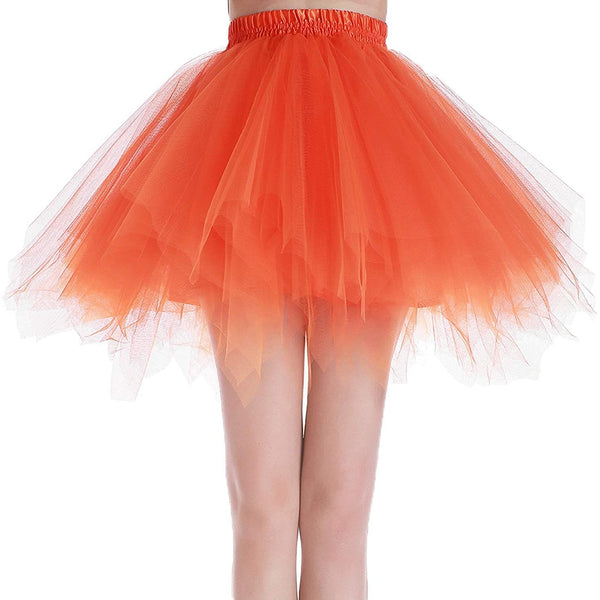 Orange Tutu Skirt for Adults