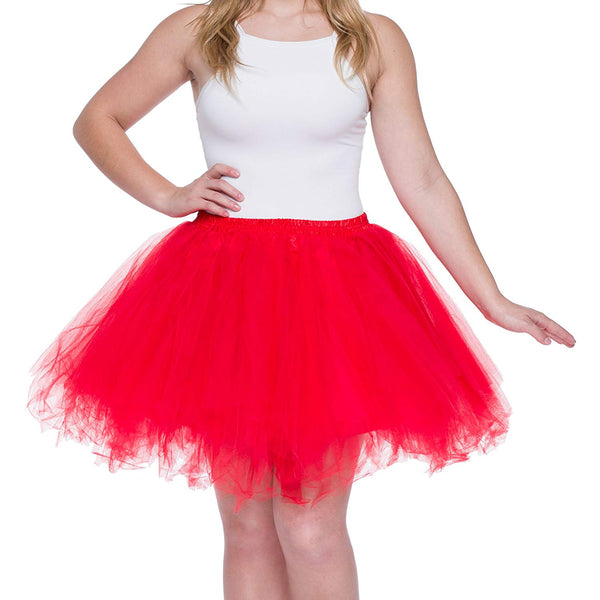 Red Tutu Skirt for Adults