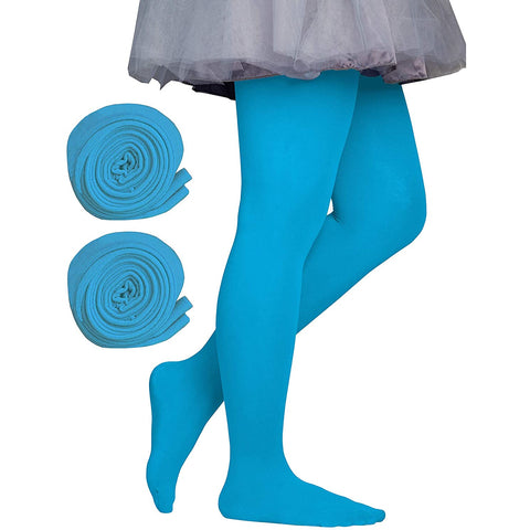 Dancina Toddler & Girls Microfiber Tights in Turquoise