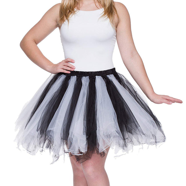 Tutu Skirt for Adults Black White