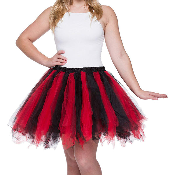Tutu Skirt for Adults Red Black