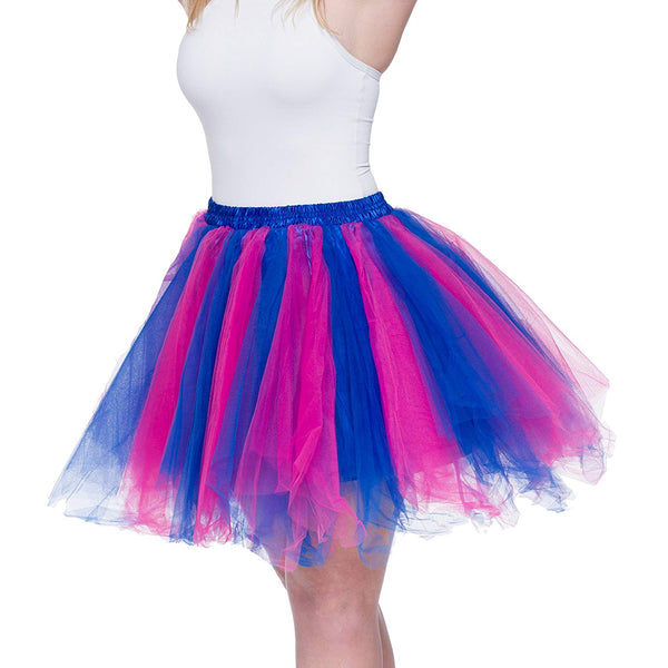 Tutu Skirt for Adults Blue Pink