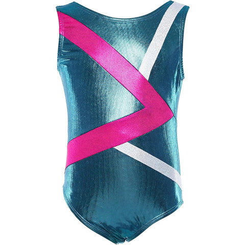 "Gymnastics Leotards for Girls ""Greater Aqua"""