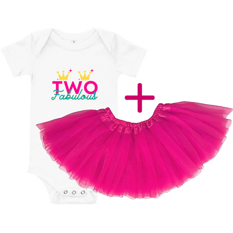 2nd Birthday Oufit: Onesie + Matching Toddler Tutu