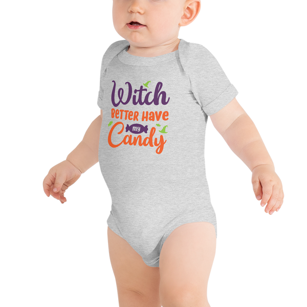 "Baby Halloween Outfit ""Witch Better Have My Candy"" Onesie + Matching Tutu"