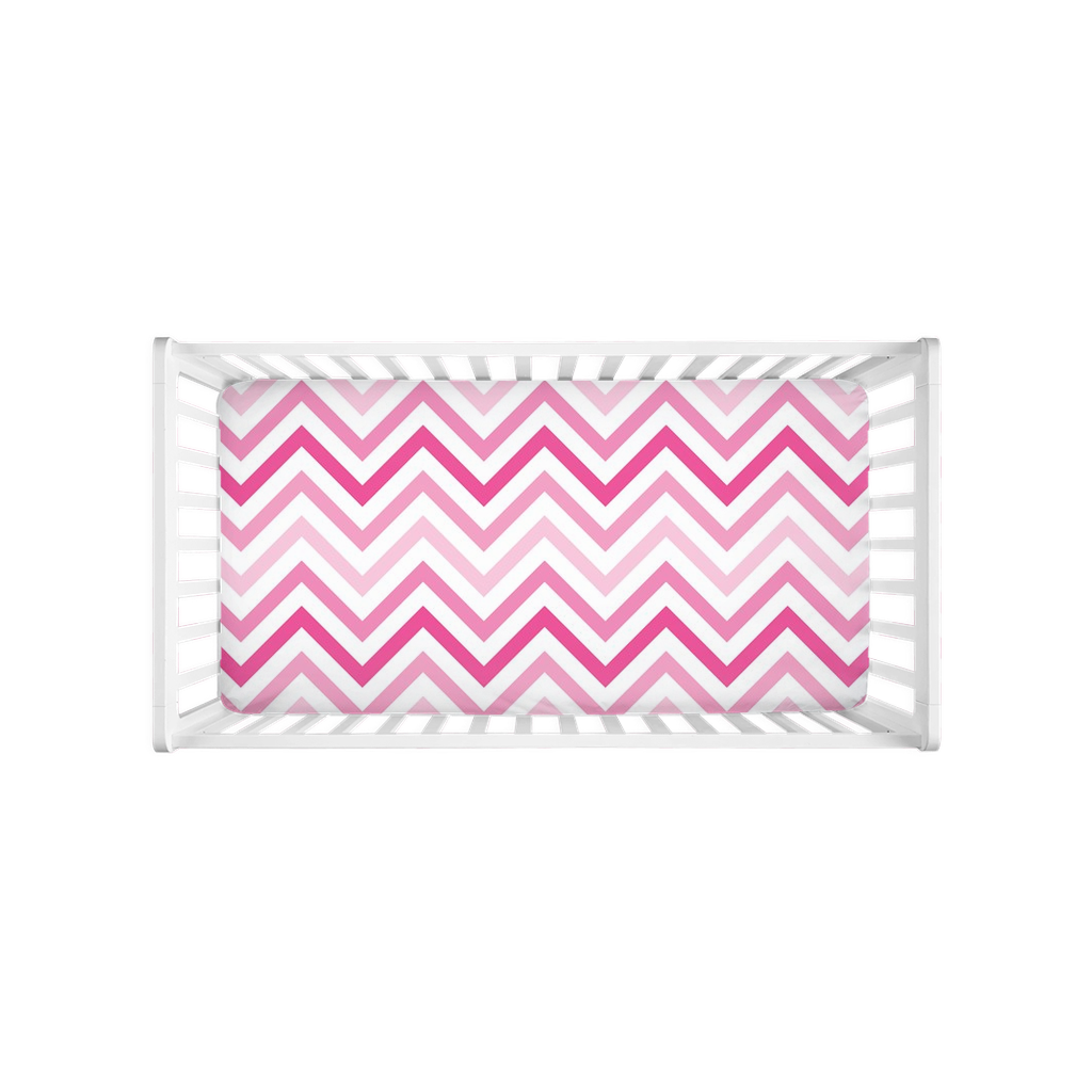 Pretty Pink Stripes Crib Sheet