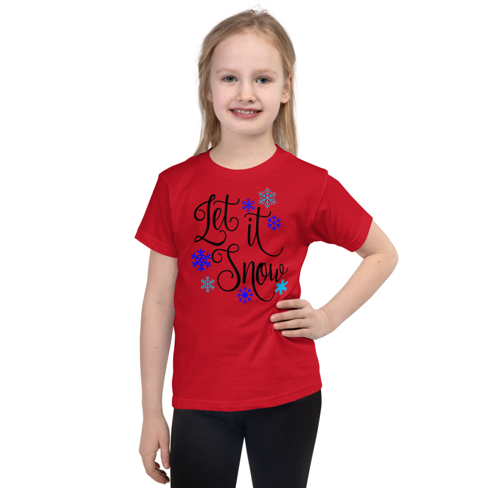 "Girls Christmas T-Shirt ""Let It Snow"""