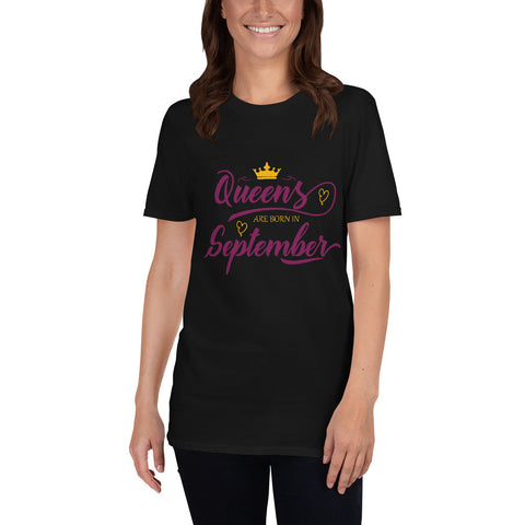 "Dancina Women's Birthday T-Shirt ""Queens are born in September"""