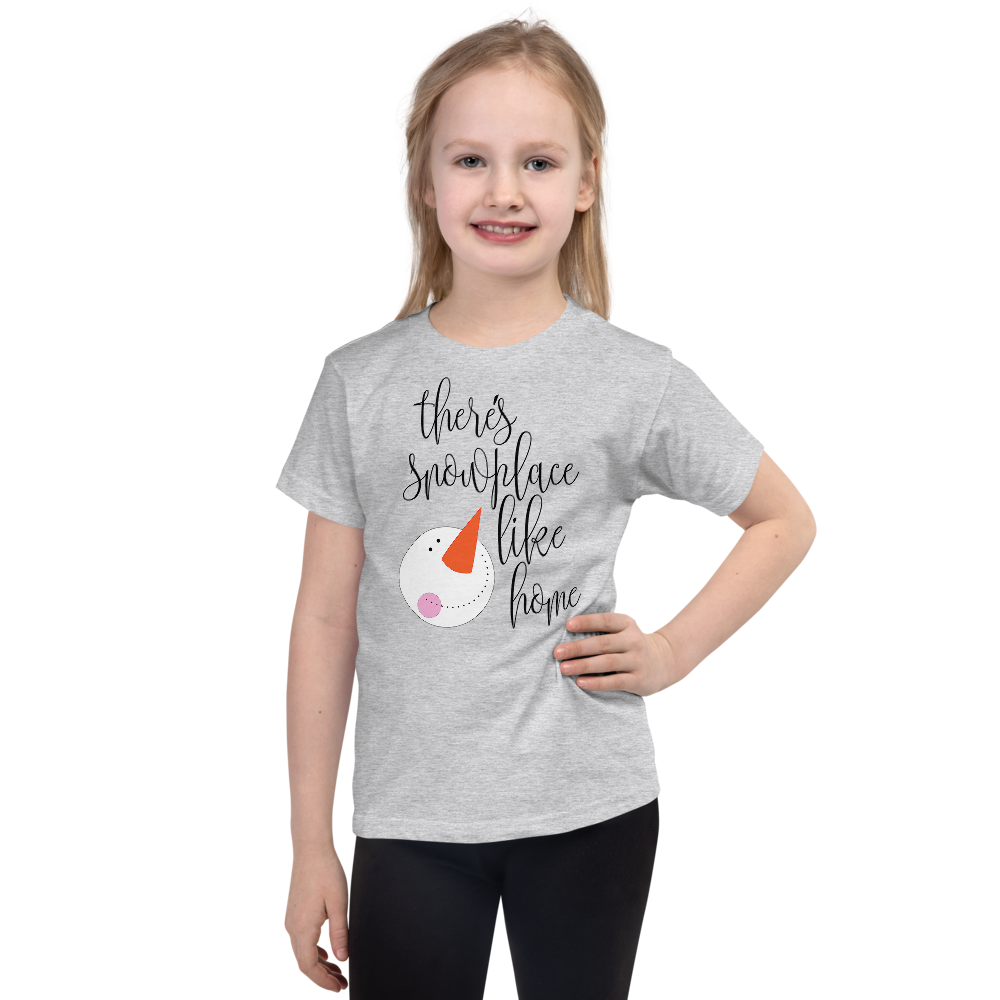 "Girls Christmas T-Shirt ""There's Snowplace Like Home"""