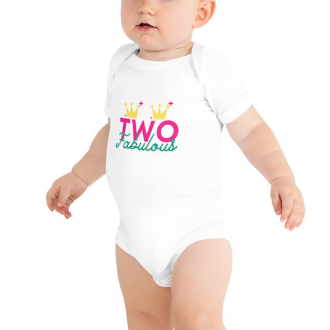 "Dancina Baby & Toddler 2nd Birthday Onesie ""Two Fabulous"""