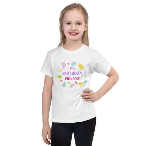 "Dancina Little Girls Short-Sleeve Birthday T-Shirt ""The Birthday Princess"""