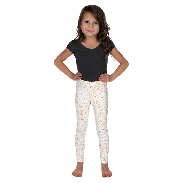 "Dancina Halloween Little Girls' Leggings ""Orange Boo"""