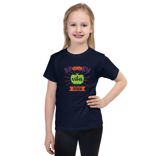 "Dancina Little Girls Short-Sleeve Halloween T-Shirt ""Spooky Vibes Only"""