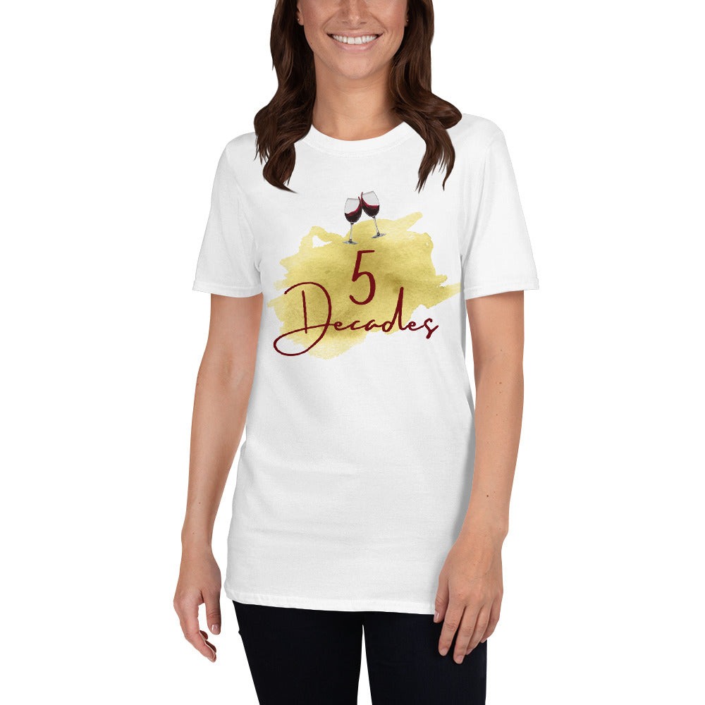 "Dancina Women's Short-Sleeve 50th Birthday T-Shirt ""5 Decades"""
