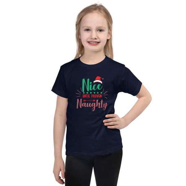 "Christmas T-Shirt ""Nice until Proven Naughty"""