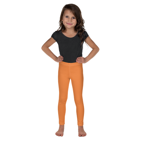 Dancina Halloween Little Girls' Leggings in Mandarin Orange