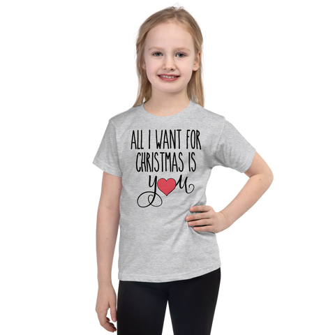 "Girls Christmas T-Shirt ""All I want for Christmas"""