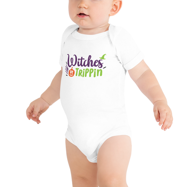 "Dancina Halloween Baby's Onesie ""Witches Be Trippin"""