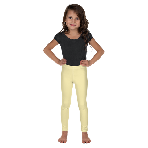 Dancina Halloween Little Girls' Leggings in Pastel Yellow