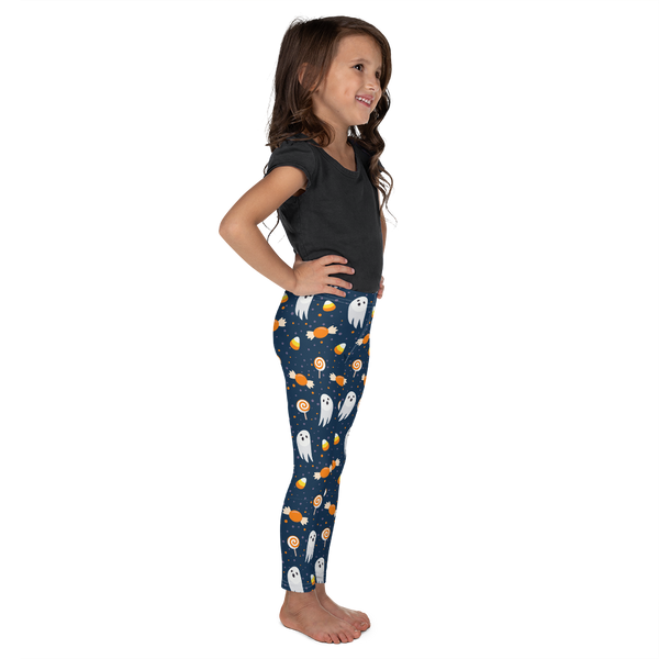 "Dancina Halloween Little Girls' Leggings ""Blue & Orange Boo"""