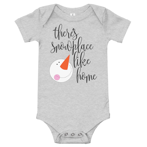 "Christmas Onesie ""There's snowplace like home"""
