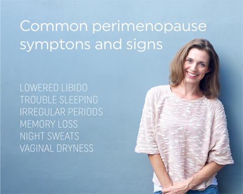common signs and symptoms of perimenopause