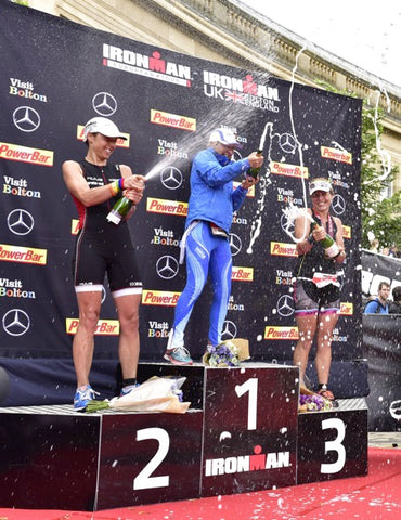 Caroline on the podium at IM UK
