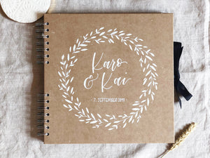 Small personalised wedding guestbook