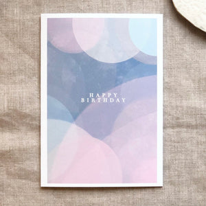 Pack of 5 Pastel greeting cards