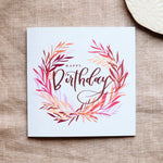 Pack of 5 Happy Birthday greeting cards