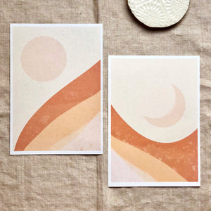 Abstract art print set