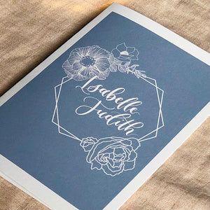 Personalised baby greeting card