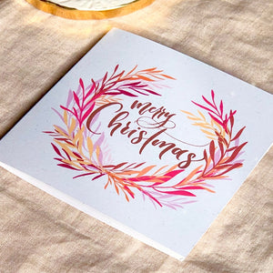 Pack of 10 Botanical Merry Christmas greeting cards