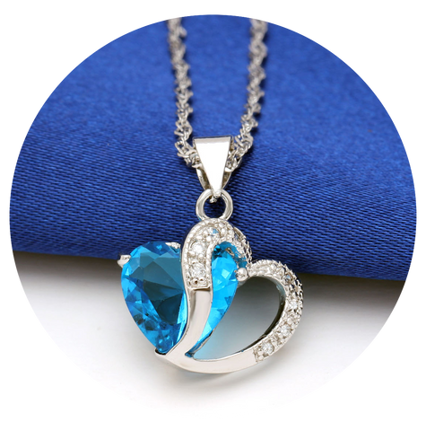 cushion il aqua marine aquamarine cut necklace listing and
