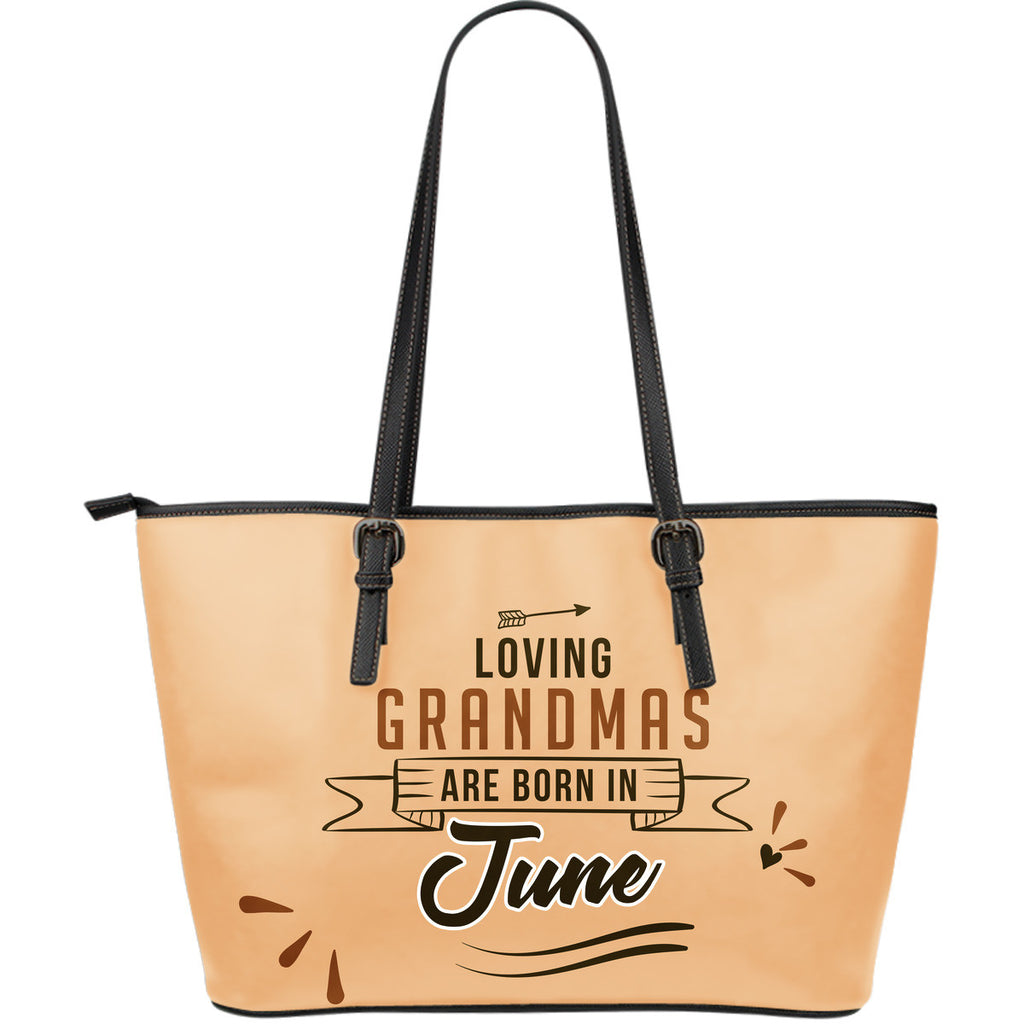 June Grandmas Leather Tote Bag