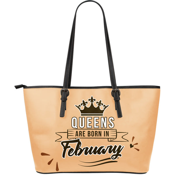 February Queen Leather Tote Bag