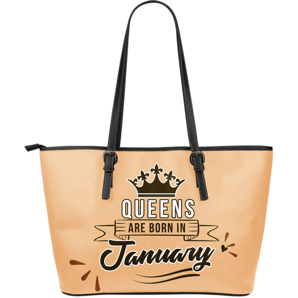 January Queen Leather Tote Bag