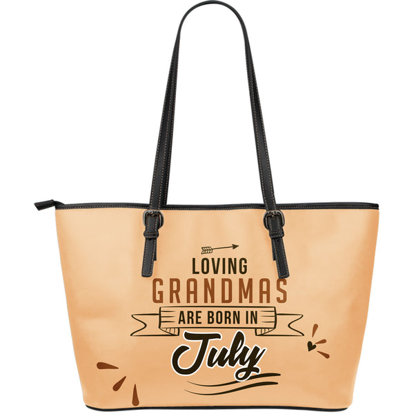 July Grandmas Leather Tote Bag